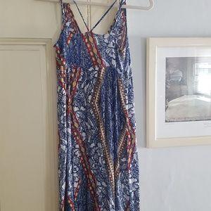Loft Beach, button front, colorful maxi dress